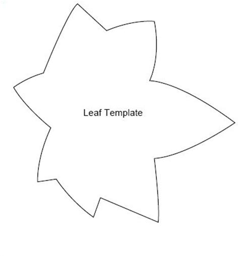 Simple Leaf Template by Best Photos Of Simple Leaf Stencil Leaves Stencil
