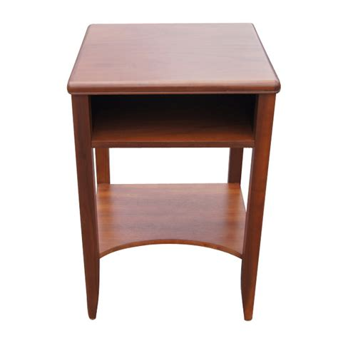 night table vintage solid walnut end side table night stand refinished