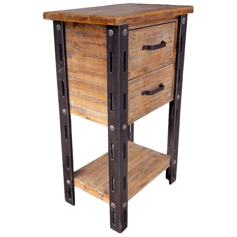 tall accent table woodrow tall accent table 1 bottom shelf 2 drawers