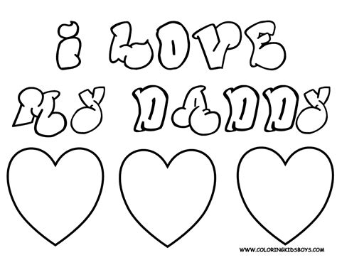fathers day coloring pages to print free large images