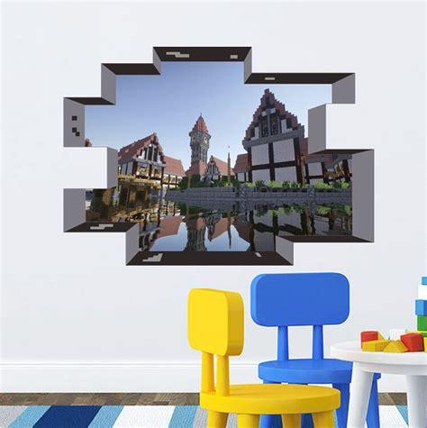 minecraft wall stickers newest minecraft wall stickers wallpaper room decal minecraft home decoration free shipping