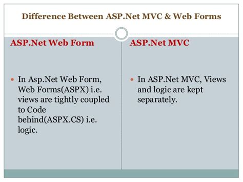 difference between layout and partial view in mvc what is the difference between asp net mvc and web forms