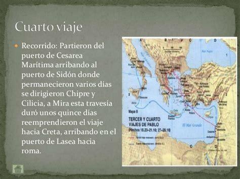 cuarto viaje misionero de pablo mapa los viajes de pablo de tarso