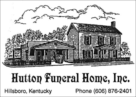 hutton funeral home inc hillsboro kentucky