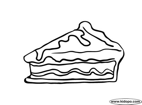 Pie Coloring Page Pie Coloring Page