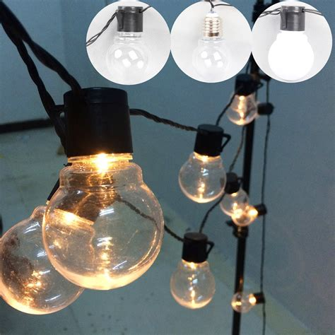 Aliexpress Com Buy Outdoor Led Christmas Lights Fairy 20 Led Globe Light String