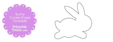 Printable Bunny Cookie Shape Template Printable Treats Com Printable Cookie Template