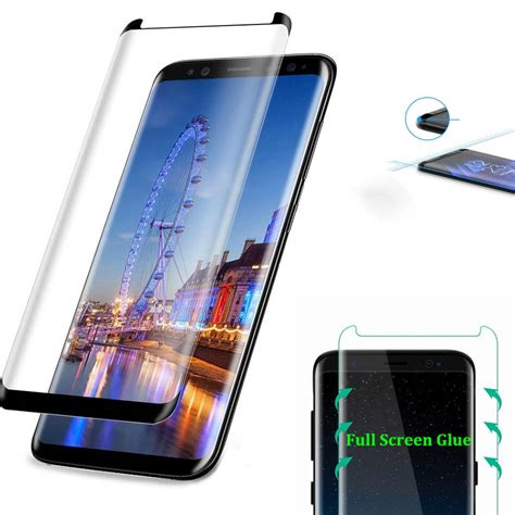 samsung galaxy  tempered glass full glue coverage screen protector  curved