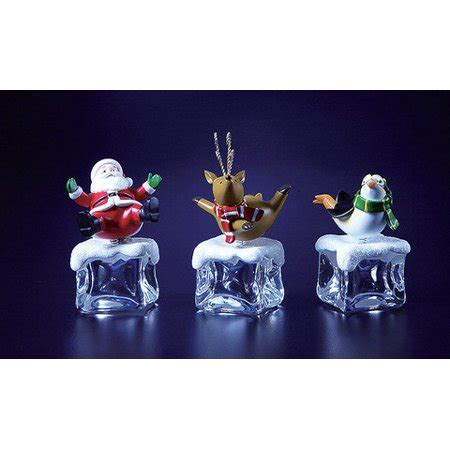 ice cube christmas tree club pack of 12 icy cube characters figurines 4 quot walmart