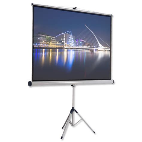 Tripod Lcd Proyektor nobo tripod projection screen 4 3 for dlp lcd w1750 x