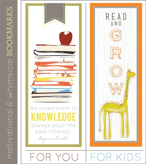 printable bookmarks to make 80 free printable bookmarks to make must reads for the