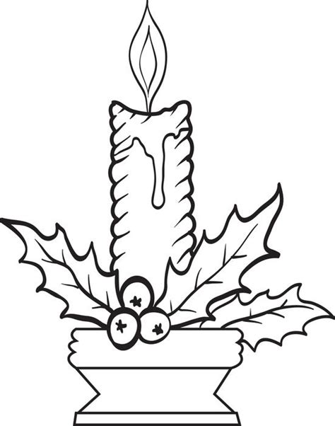 christmas candle coloring pages new calendar template site