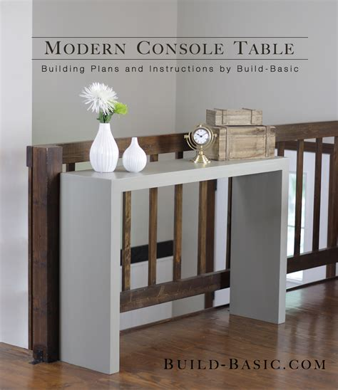 console tables how to make modern ones build a modern console table build basic