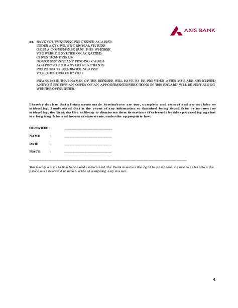 axis bank employee details application form axis bank free