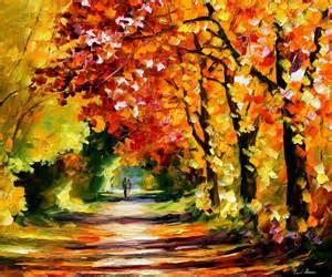 City Of Winter Garden Recreation - leonid afremov oil on canvas palette knife buy original