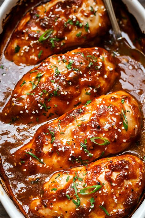 baked chicken breast recipes baked chicken with sticky honey sriracha sauce eatwell101