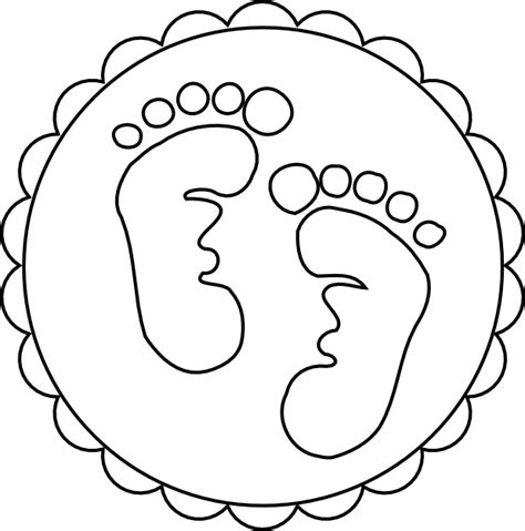 coloring pages of baby feet free footprint outline coloring pages