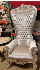 silver throne alice  wonderland chair miami prop rental