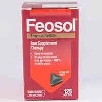 feosol iron sulfate dosage indication interactions