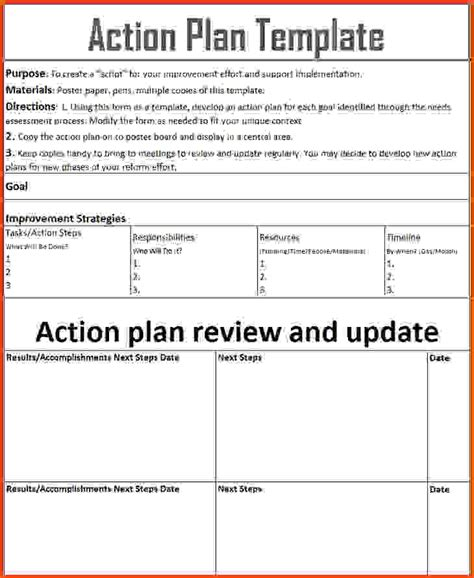 corrective plan templates plan work sheet book plans for goal setting