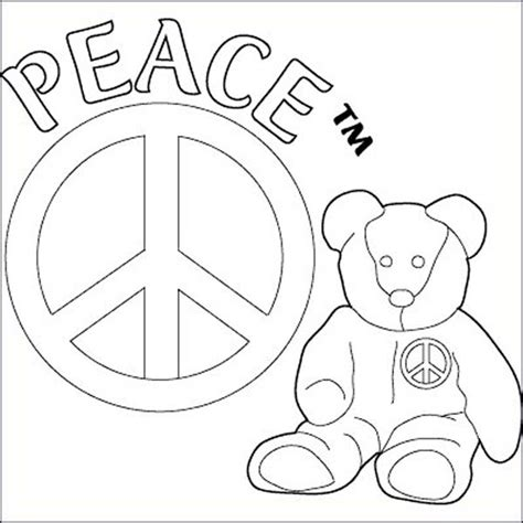 color for peace free coloring pages of ty beanie