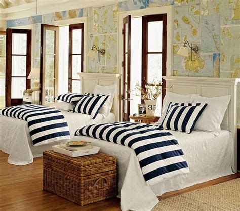Pottery Barn Striped Bedding Key Elements Of Nautical Style
