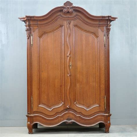 armoire furniture antique typical flemish oak armoire de grande antique furniture
