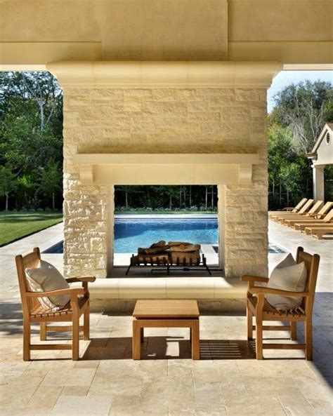 Hearth Pool And Patio Sudbury Outdoor Fireplace See Through Swimming Pool By