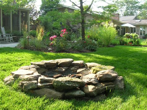 outdoor fire pits rustic landscape chicago by the barn nursery landscape center garden