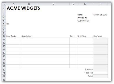 Blank Invoice Excel Free To Do List Free Blank Invoice Template Excel