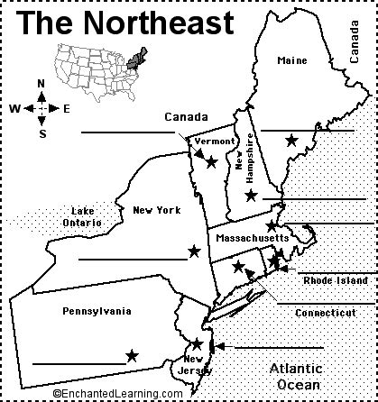 northeast us map quiz northeastern us state capitals to label us states