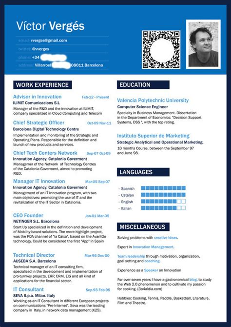 media section of website victor verges cv solving problems with creative ideas
