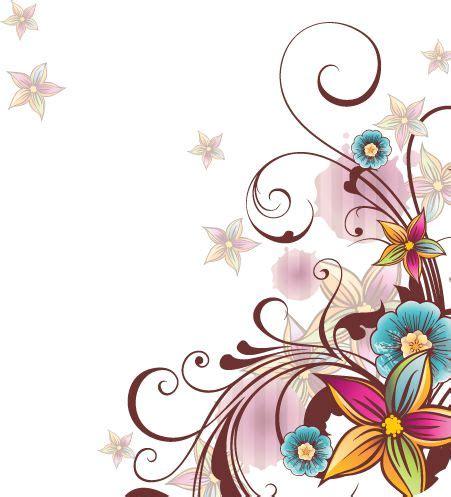 imagenes vectoriales florales vectores florales de colores png buscar con google