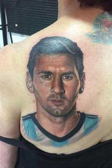 messi tattoo portrait el tatuaje realista de messi de una mujer de 54 a 241 os que