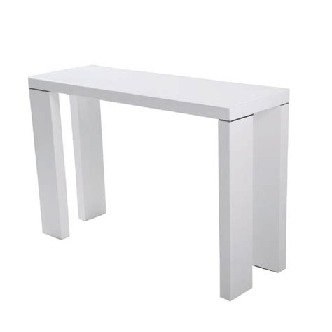 White Gloss Console Table Glass Top Console Table In White With High Gloss