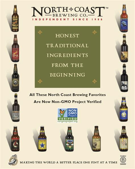 light beers without gmo your favorite north coast brewing beers are now officially