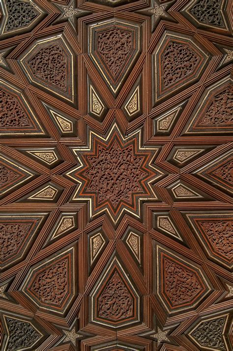door pattern photo 1166 15 detail of pattern on a door in museum of islamic art doha qatar