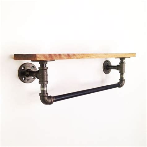 Bar Plumbing by Reclaimed Industrial Towel Bar