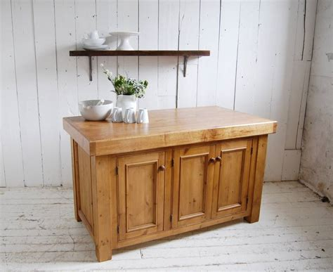 Solid Wood Kitchen Island Reclaimed Solid Wood Kitchen Island By Eastburn Country