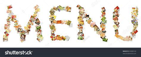 Letter Chicken Menu Food Menu Collage Letters Alphabet Stock Illustration 85089142