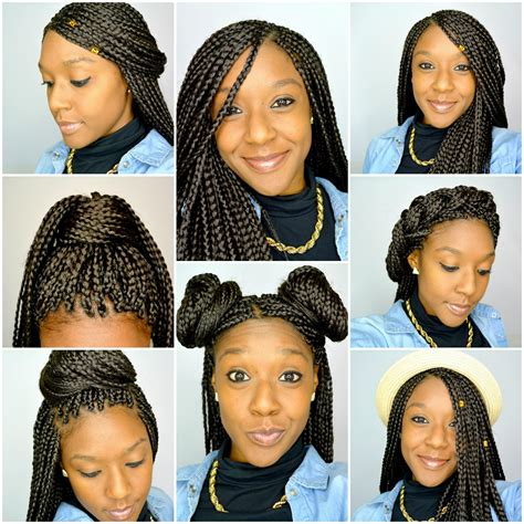 ways you can put braid weave in a donut bun 6 styles for box braids youtube