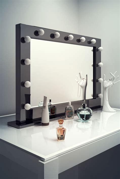 dressing room mirror high gloss black makeup dressing room mirror with dimmable bulbs k314 ebay