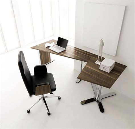 Simple Corner Desk Simple Modern Minimalist Corner Office Desk Design Wood Material On White Wall Minimalist Desk