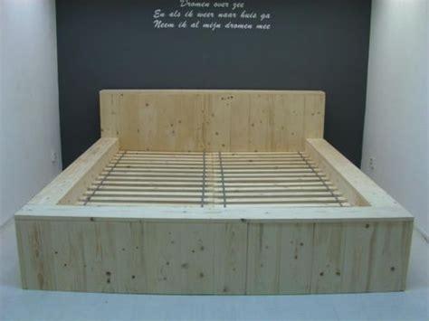 steigerhout bed maken tekening bed van steigerhout zelf maken met een bouwtekening