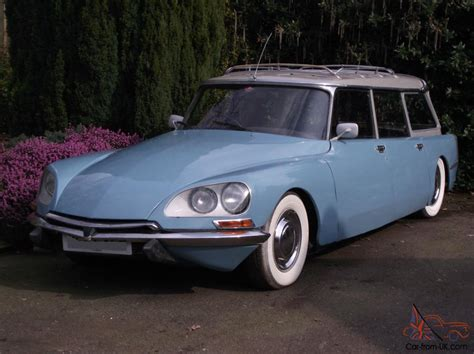 blue station wagon citroen ds safari 1974 blue station wagon
