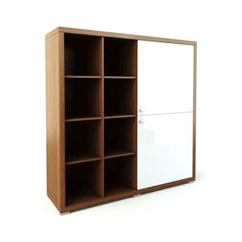 Storage Shelves With Doors by Wooden Storage Shelves With White Doors 3d Model Cgtrader