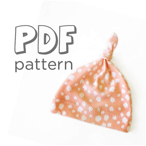 pattern for jersey baby hat pdf pattern baby jersey knot hat pattern by