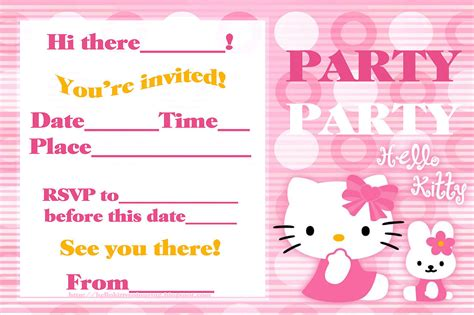 hello birthday invitation bagvania free printable