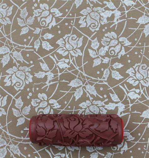 paint rollers with designs patterned paint roller in sweet sea roses design by