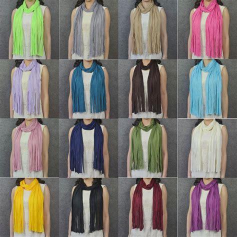 60pcs diy fringe soft polyester fabric tassels style scarf